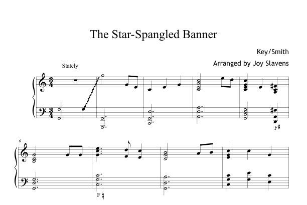 The Star Spangled Banner Harp Column Music