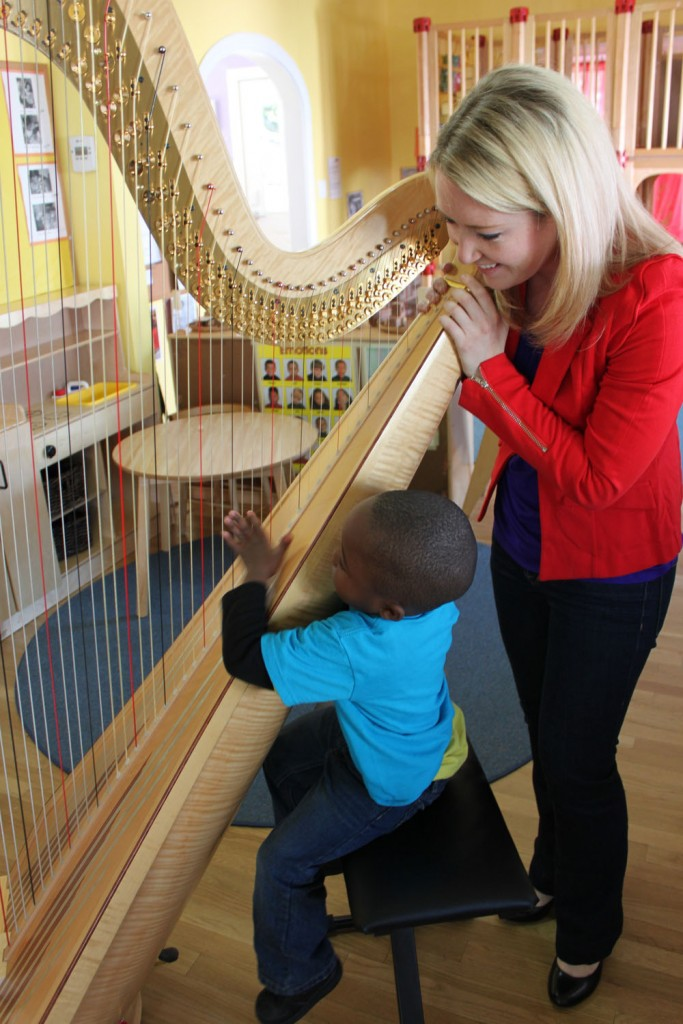 Meghan Caulkett's 47 Strings project brings harp performances to homeless shelters, schools, and nursing homes that are underserved in Houston. Caulkett was also the first harpist to work with the Arts in Medicine program at Texas Children's Cancer Center, through waiting room and inpatient performances.